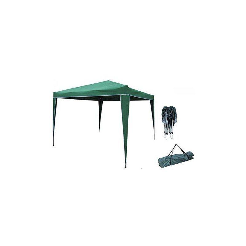 Gazebi gazebo pieghevole iowa colore ecru o verde mt3x3 arredo giardino colore: verde