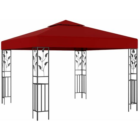 Gazebo 3x3 m Wine Red