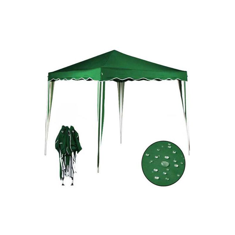 Antipioggia Resistente ai Raggi UV Verde 3x3 M Gazebo da Giardino Impermeabile Pieghevole Tendone Giardino con 3 Laterali