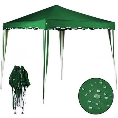 Gazebo 3x3 Pieghevole Verde Impermeabile Richiudibile Tendone Giardino Con Sacca