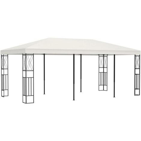 Gazebo 3x6 m Cream Fabric