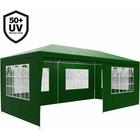 Gazebo 3x6m Marquee Canopy Sun Shade Patio Outdoor Garden Festival Party Tent