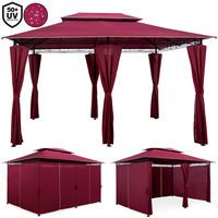 Gazebo 4 x 3 Meter Deuba Topas with Curtains Garden Event Shelter Canopy Colour Choice