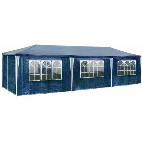 Gazebo 9x3m with 8 side panels - garden gazebo, gazebo with sides, camping gazebo