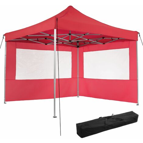 Gazebo collapsible 3x3 m with 2 Sides - Olivia - garden gazebo, gazebo with sides, camping gazebo