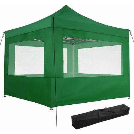 Gazebo collapsible 3x3 m with 4 Sides - Olivia - garden gazebo, gazebo with sides, camping gazebo