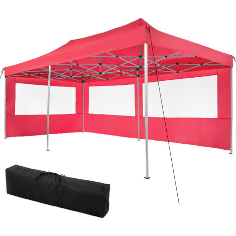 Gazebo collapsible 3x6 m with 2 Sides - Viola - garden gazebo, gazebo with sides, camping gazebo