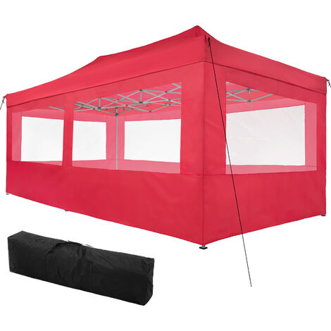 Gazebo collapsible 3x6 m with 4 Sides - Viola - garden gazebo, gazebo with sides, camping gazebo