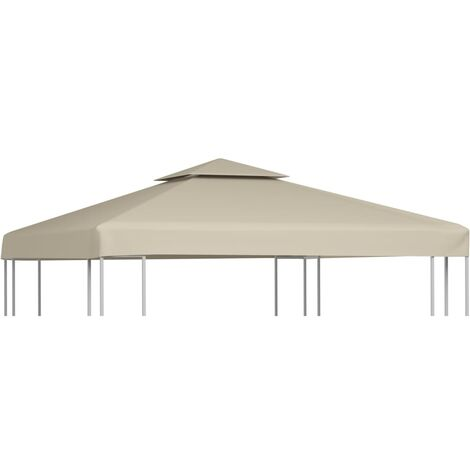 Gazebo Cover Canopy Replacement 310 g / m² Beige 3 x 3 m