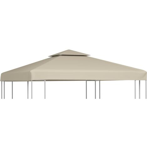 Gazebo Cover Canopy Replacement 310 g / m Beige 3 x 3 m - Beige