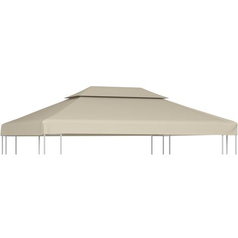 Gazebo Cover Canopy Replacement 310 g / m² Beige 3 x 4 m
