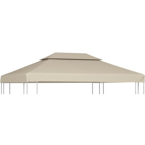 Gazebo Cover Canopy Replacement 310 g / m Beige 3 x 4 m - Beige