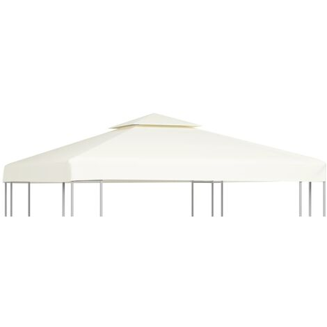 Gazebo Cover Canopy Replacement 310 g / m² Cream White 3 x 3 m