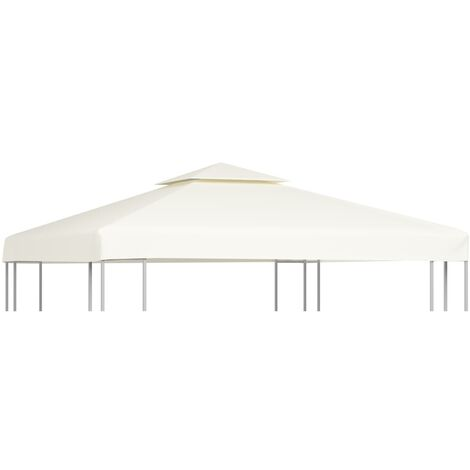 Gazebo Cover Canopy Replacement 310 g / m Cream White 3 x 3 m - White