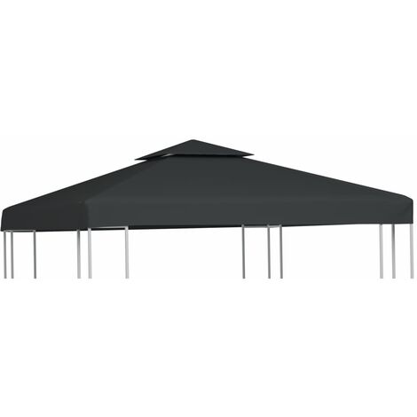 Gazebo Cover Canopy Replacement 310 g / m² Dark Grey 3 x 3 m