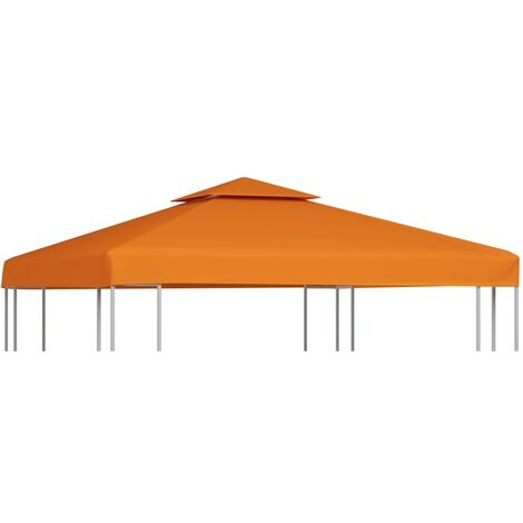 Gazebo Cover Canopy Replacement 310 g / m Terracotta 3 x 3 m - Orange