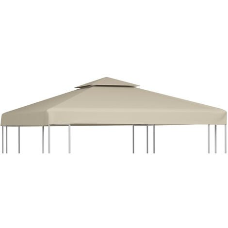 Gazebo Cover Canopy Replacement 310 g / m2 Beige 3 x 3 m