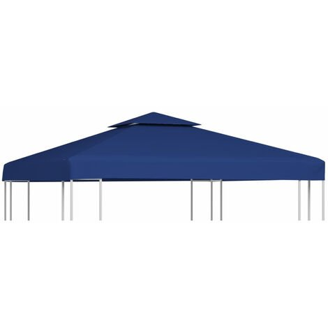 Gazebo Cover Canopy Replacement 310 g / m2 Dark Blue 3 x 3 m