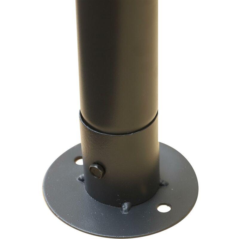 miozzi Gazebo da Giardino 3x3.65x2.75m in Acciaio Zanzariera e Doppio Tetto Bianco