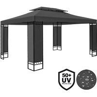 Gazebo Elda 3 x 4 m Event Shelter Party Tent Anthracite