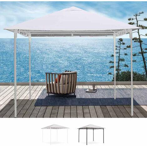 Gazebo et tonnelle de jardin en acier de 3X3 mètres Style Antivent et UV