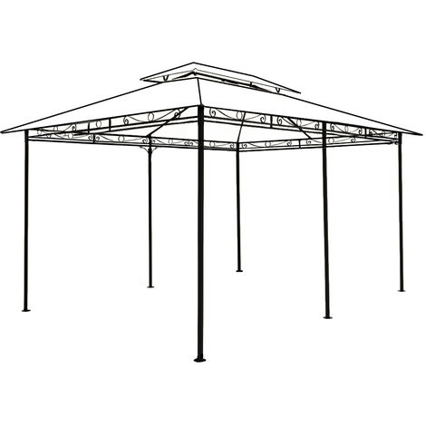 Gazebo Frame Only Steel Powder Coated TOPAS 4x3m Pavilion Garden Party Tent New
