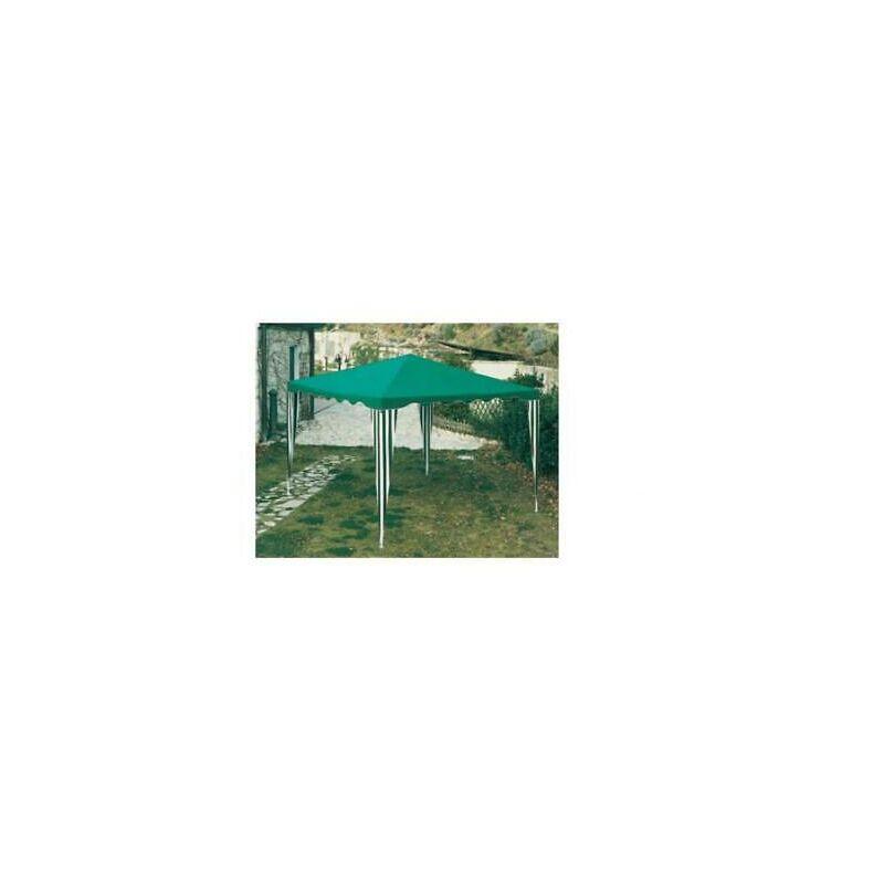 Gazebi gazebo verde cm300x300 mt 3x3 in acciaio verniciato top 160 gr/mq