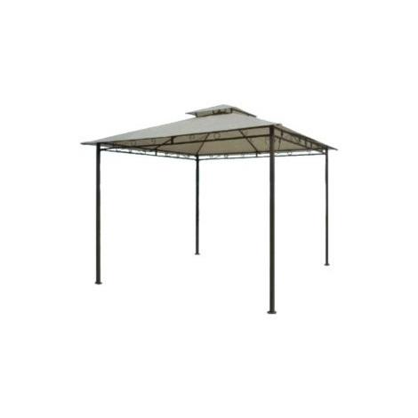 """Gazebo in acciaio """"Haiti"""" cm. 300 (L) x 300 (P) x 270 (A)"""