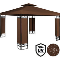 Gazebo Lorca 3x3 with roof vent and powder coated metal frame - Colour Choice