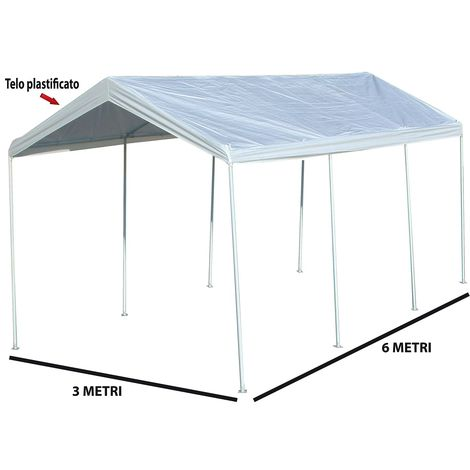 Festnight Tendone Parasole in Tela Tenda da Sole Avvolgibile Tenda da Sole per Esterno Arancio e Bianco 350x250 cm