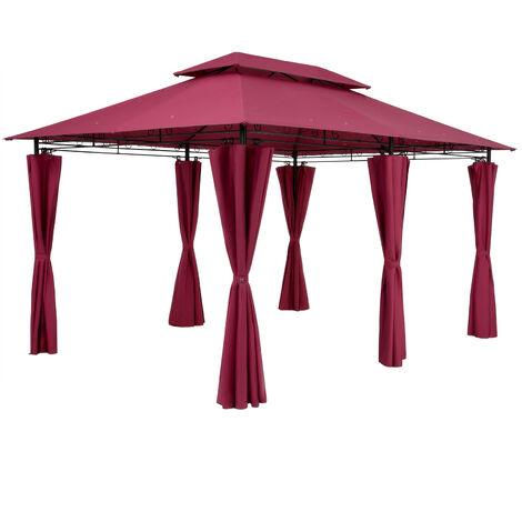 Gazebo Pavilion Garden Topas 3x4m Red