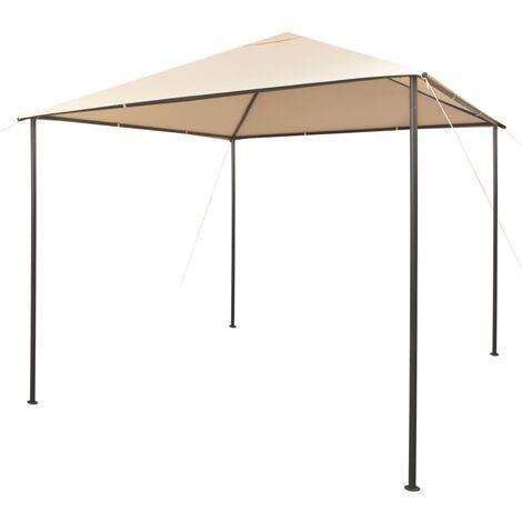 Gazebo Pavilion Tent Canopy 3x3 m Steel Beige - Beige
