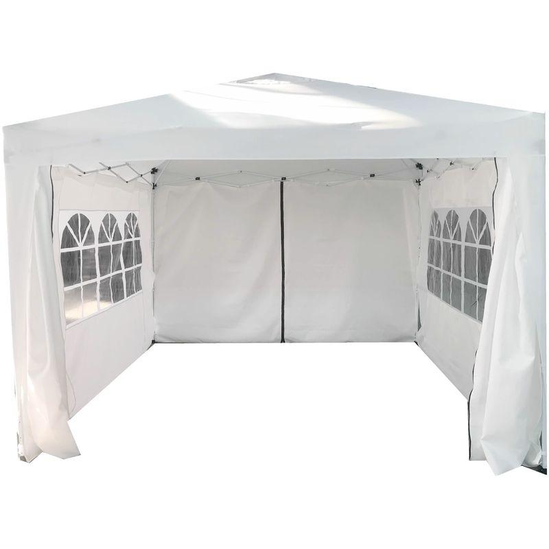 Protezione UV 50+ Spiaggia Campeggio Regolabili in Altezza COBIZI Gazebo da Giardino 3x3 Gazebo Pieghevole Impermeabile Tendone Giardino con 4 Pareti Laterali Tenda Padiglione per Feste