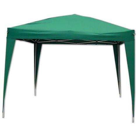Gazebo Pieghevole Giardino Verde 3x3 Automatico Richiudibile