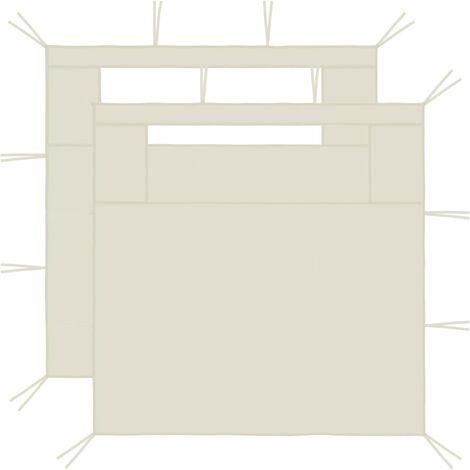 Gazebo Sidewalls with Windows 2 pcs 3x2.1 m Cream 70 g/m²