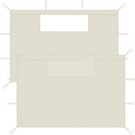 Gazebo Sidewalls with Windows 2 pcs 4x2.1 m Cream 70 g/m²