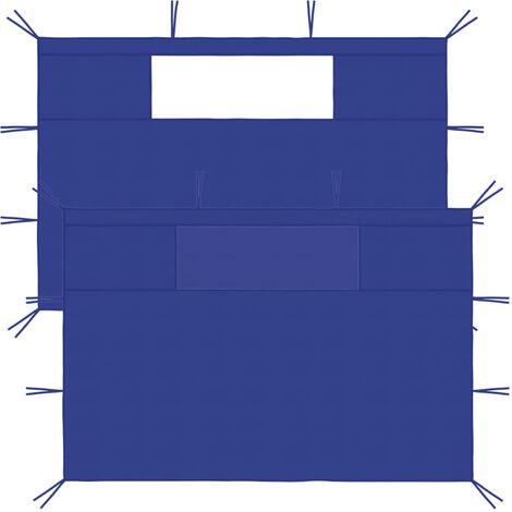 """main image of """"Gazebo Sidewalls with Windows 2 pcs Blue"""""""