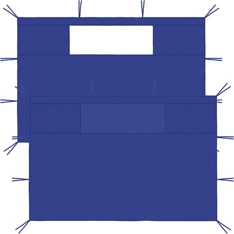 "main image of ""Gazebo Sidewalls with Windows 2 pcs Blue21581-Serial number"""