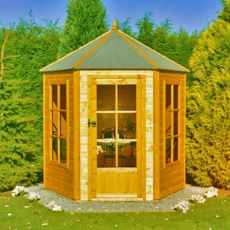 Gazebo Summerhouse Shiplap Summerhouse Garden Sun Room Approx 6 x 6 Feet