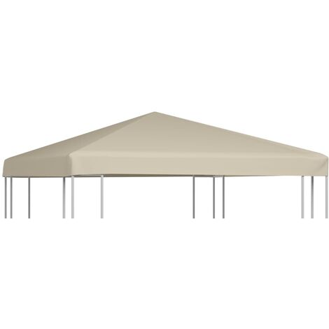 Gazebo Top Cover 310 g/m 3x3 m Beige - Beige