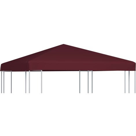 Gazebo Top Cover 310 g/m 3x3 m Bordeaux - Red