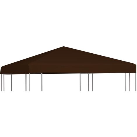 Gazebo Top Cover 310 g/m 3x3 m Brown - Brown