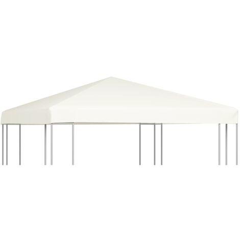Gazebo Top Cover 310 g/m² 3x3 m Cream White