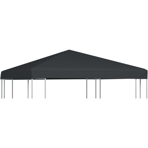 Gazebo Top Cover 310 g/m 3x3 m Grey - Grey