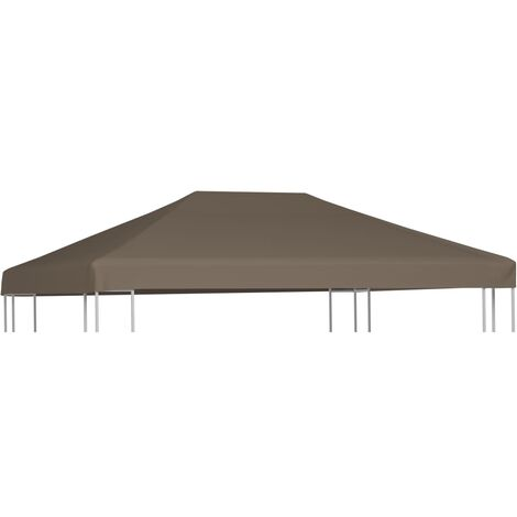 Gazebo Top Cover 310 g/m² 3x3 m Taupe
