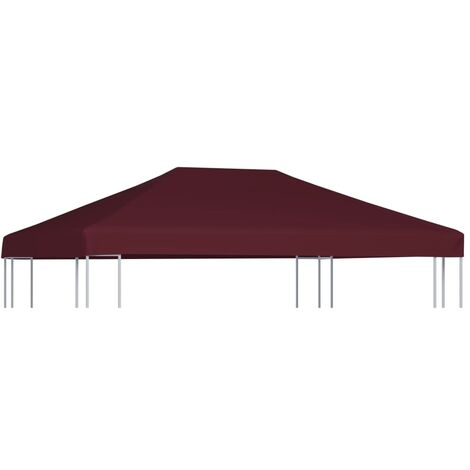 Gazebo Top Cover 310 g/m 3x4 m Bordeaux - Red