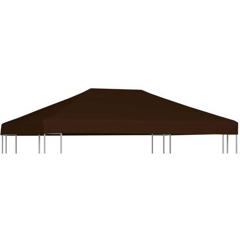 Gazebo Top Cover 310 g/m² 3x4 m Brown