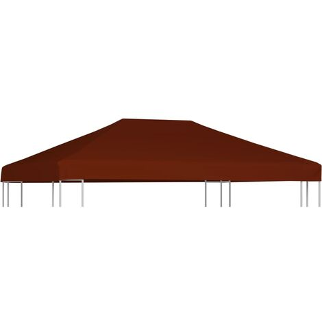 Gazebo Top Cover 310 g/m 3x4 m Terracota - Brown