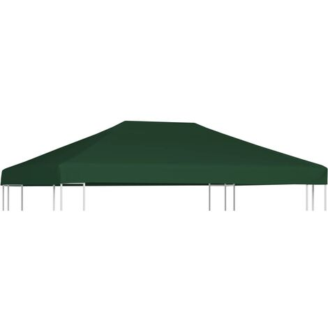 Gazebo Top Cover 310 g/m虏 4x3 m Green
