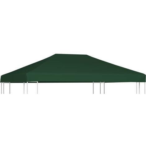 Gazebo Top Cover 310 g/m 4x3 m Green - Green